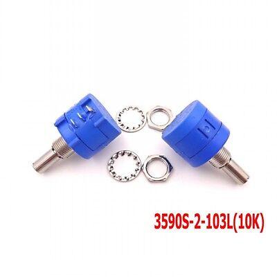 1pcs 3590s-2-103l 10k Multi-turn Around Rotary Wirewound Precision Potentiometer