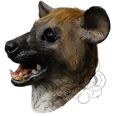 Berühmte Kostüm (Latex ganzer Kopf Tier berühmt Aasfresser Hyäne Kostüm Requisiten Party Masken)