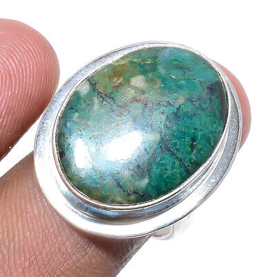 African Chrysocolla 925 Sterling Silver Jewelry Ring S.Ad L151136 - $4.00