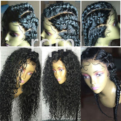 Pre Plucked virgin Human Hair Full Lace Wig Natural curly  Lace Front Wigs