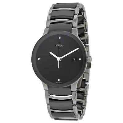 Rado Centrix Quartz Black Dial Black Ceramic Unisex  Watch R30934712