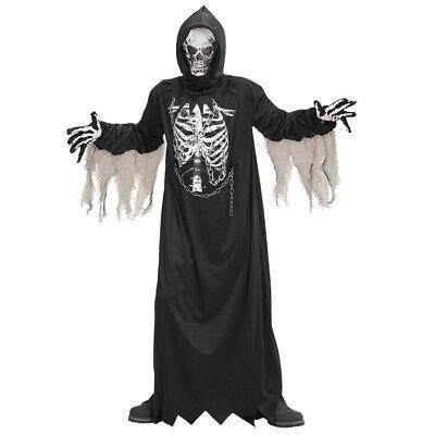 SENSENMANN KOSTÜM & MASKE KINDER Halloween Geister Skelett Monster Jungen # 0867