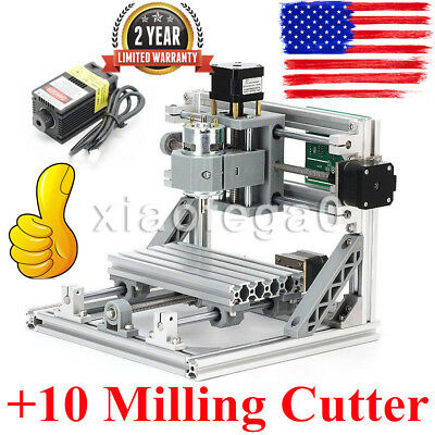 Cnc Router Grbl Control Mini Engraving Machine500mw Engraver10 Milling Cutter