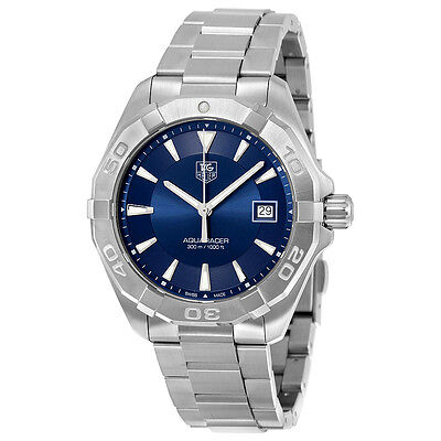 Tag Heuer Aquaracer Blue Sunray Dial Stainless Steel Mens Watch WAY1112.BA0928