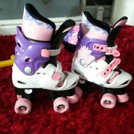 Girls roller boots and helmet