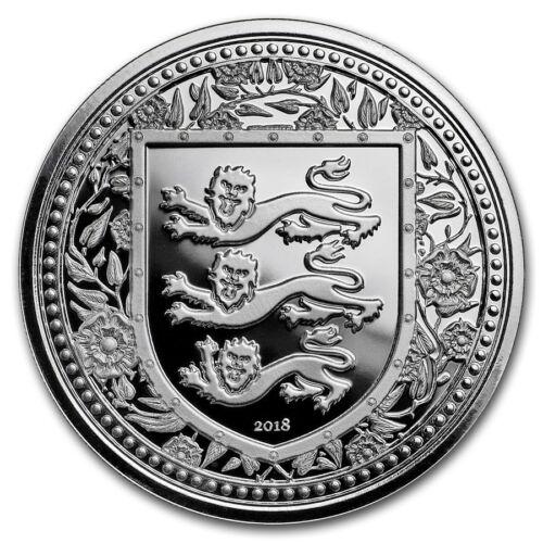 2018 Gibraltar Royal Arms Of England 1 oz .999 Silver Limited BU Capsuled Coin