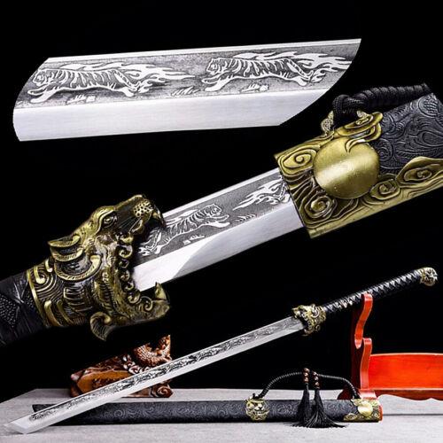 Battle Ready Outdoor Hunting Dao Sword Katana Sharp Manganese Steel Tiger Blade