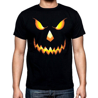 Halloween Pumpkin Head T Shirt skeleton skull orange funny costumes scary (Scary Funny Halloween Costumes)