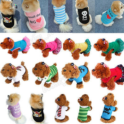 Dog Cat T-Shirt Clothes Vest Tee Cotton Puppy Pet Apparel Costume Coat Jacket