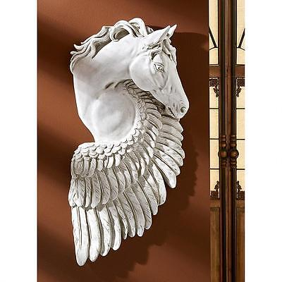 PEGASUS WINGED HORSE WALL SCULPTURE Greek Mythology Statue Contemporary Modern