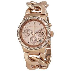 231d58984ffb Michael Kors MK3247 Ladies Rose Gold Runway Chronograph Watch for ...
