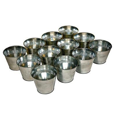 12 Zinc Plant Theatre Flower Pot Planter Garden Tins Outdoor Indoors Fathers -