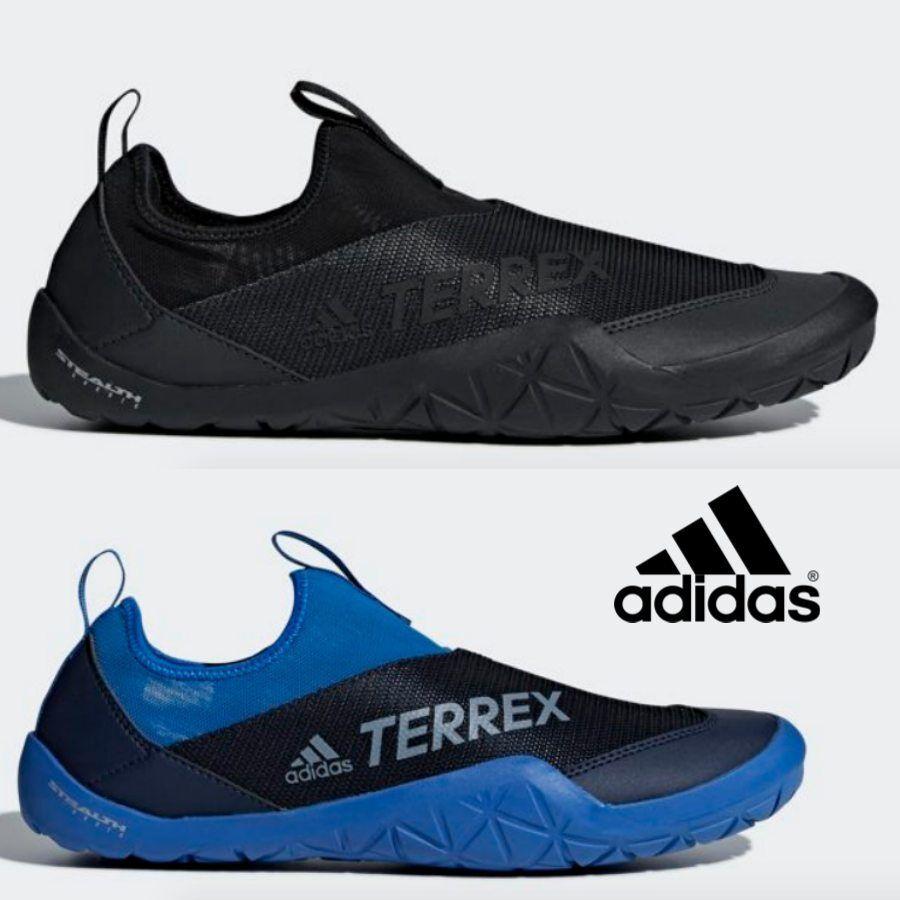 34e1c8427e0 Details about Adidas Terrex Climacool Jawpaw Slip On Shoes Sneaker Black  Blue CM7531 CM7533