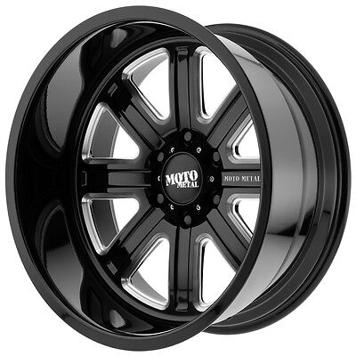 Moto Metal Mo402 20X12 6X139 7 6X5 5   44Mm Black Milled Wheel Rim
