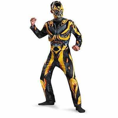 BRAND NEW BUMBLEBEE 2XL 44-46 DELUXE TRANSFORMERS Adult Men's Cartoon Costume (Adult Transformer Costumes)