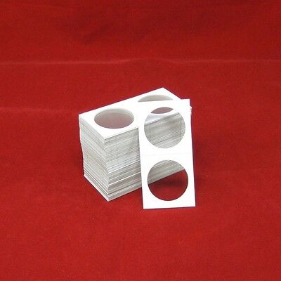 100 Cardboard 2x2 Coin Holder Mylar Flips for Silver Dollars