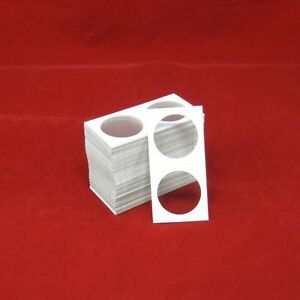 100-Cardboard-2x2-Coin-Holder-Mylar-Flips-for-Silver-Dollars