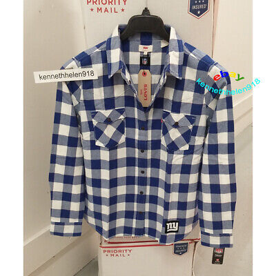 LEVIS WOMENS NFL PLAID WESTERN LONG SLEEVE SHIRT GIANTS SIZE LARGE - Giant Plaid Shirt