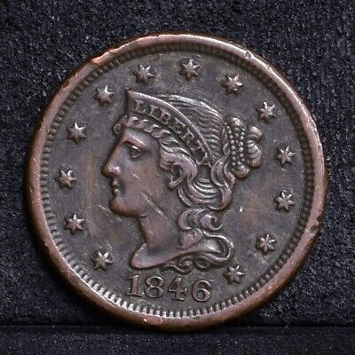 1846 Large Cent - Small Date - VF Details (#34809)