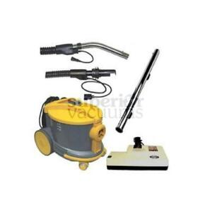 "JohhnyVac / Ghibli / ShopVac Style Canister Vacuum AS6 with 14"" Sebo Power Nozzle"