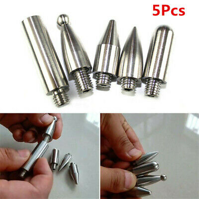 5Pcs Stainless Car Dent Removal Repair Puller Push Rods Hook Replacement Head