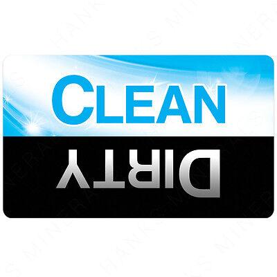 Dishwasher Magnet Clean Dirty Sign Dishes Kitchen Flip Turn