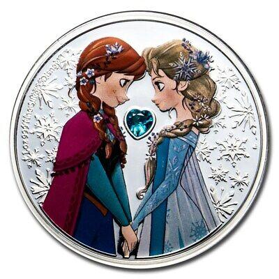 Niue - 2020 - 1 OZ Silver Proof  Coin- Disney Frozen – Elsa and Anna Frozen