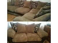 Corner Sofa, Sofa bed & 2 seater