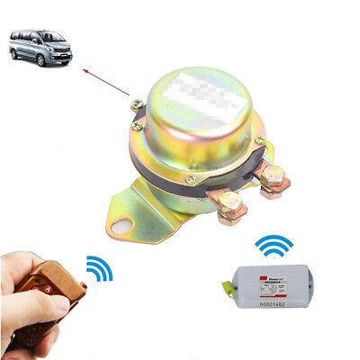 Remote Car Battery Disconnect Control Power Supply Main Switch Kill Anti-Theft