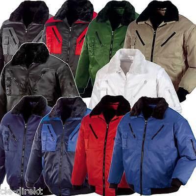 Kurze Jacke Herrenjacke Blouson Arbeitsjacke Übergangsjacke schwarz rot grün