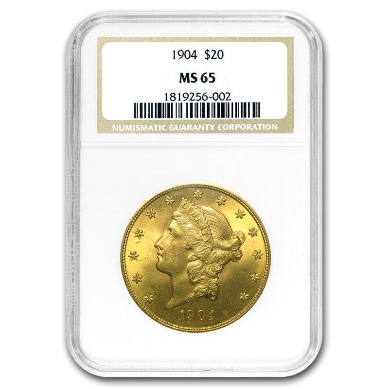 $20 Liberty Gold Double Eagle Ms-65 Ngc (random) - Sku #61050