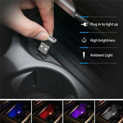 Usado, 3xMini Lamp Bulb Accessories USB LED Car Interior Light Neon Atmosphere Ambient comprar usado  Enviando para Brazil