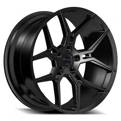 "24"" Giovanna Wheels Haleb Black Rims FS"