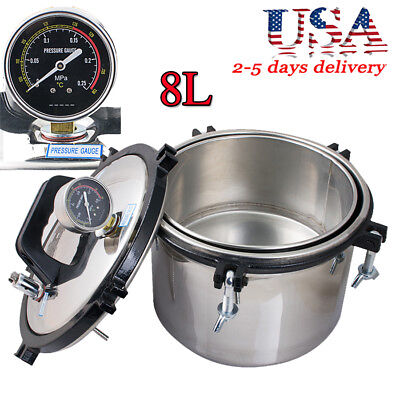 2kw 8l Full Stainless Dental Pressure Steam Sterilizer Sterilize Disinfection Us