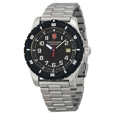 NEW VICTORINOX Swiss Army Maverick Black Dial Stainless Steel Men's Watch 241675