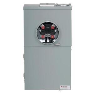 Eaton 200-Amp Ringless Meter Socket Single Phase Space 8 Br Load Center 124//240