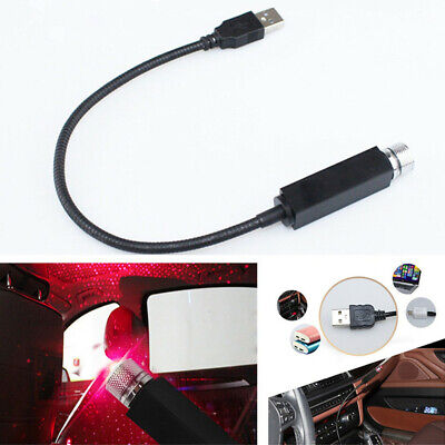 USB Plug Flexible LED Car Roof Star Night Atmosphere Light Projector Starry Lamp
