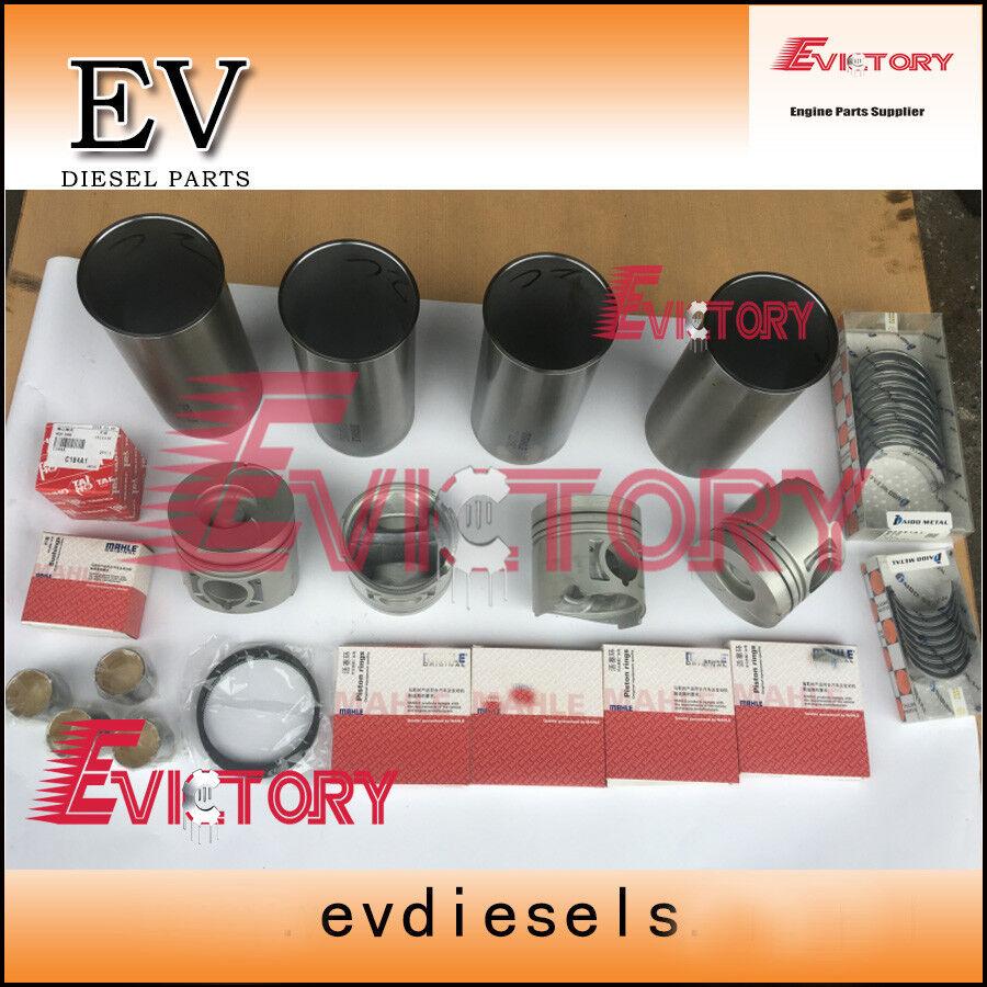 For Isuzu Rodio 4JB1-T 2.8L TFS engine rebuild kit piston+ring liner gasket