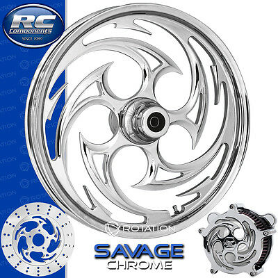 RC Components Savage Chrome Custom Motorcycle Wheel Suzuki Boulevard M109R ()