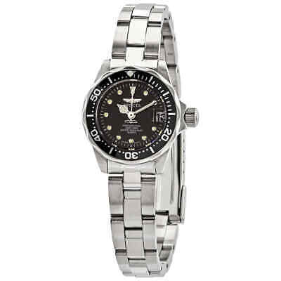 Invicta Pro Diver Black Dial Stainless Steel Ladies Watch 17032