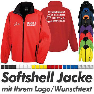 SOFTSHELL JACKE rot-schwarz, inkl. Ihrem Wunschdruck Logo Druck Werbedruck