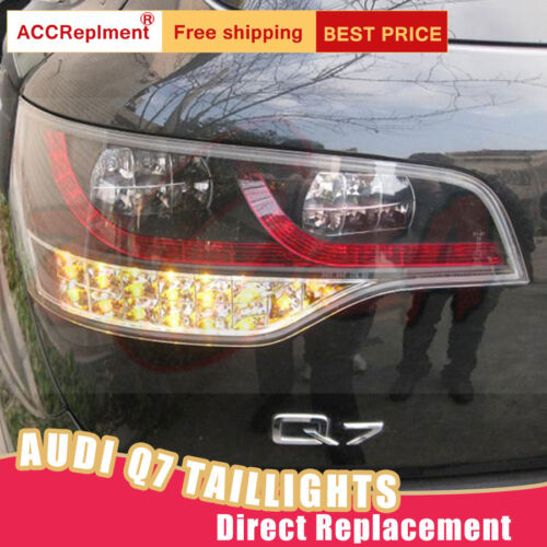 For Audi Q7 LED Taillights Assembly Dark/Red LED Rear Lamps 2007-2009