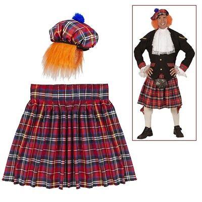 SCHOTTENROCK & SCHOTTENMÜTZE # Schottland Schotten Kilt Rock Mütze Kostüm - Schottland Kostüm