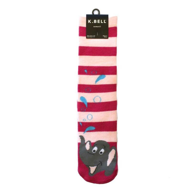 Slipper Socks Tubular 'Elephant' NWT Women's Size 9-11 K BELL Peanuts