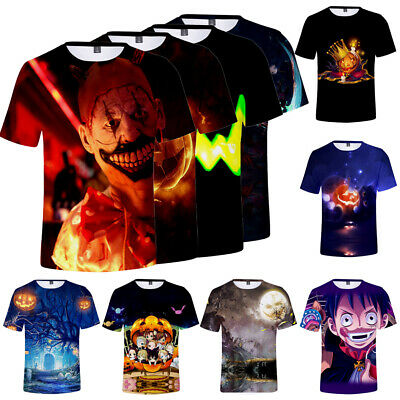 Funny 2019 Halloween (2019 Halloween 3D Casual Funny Short Sleeve T-Shirt Womens Mens Graphic Tee)