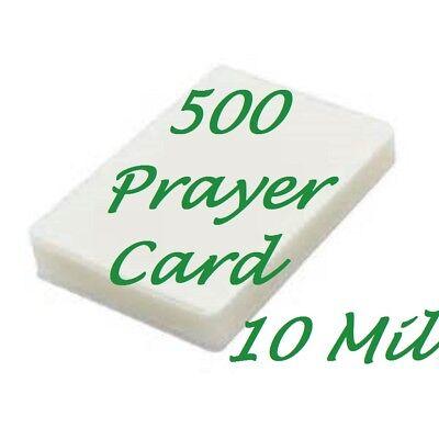 500 Prayer Card Laminating Pouches Laminator Sheet 10 Mil 2-34 X 4-12 Scotch Q