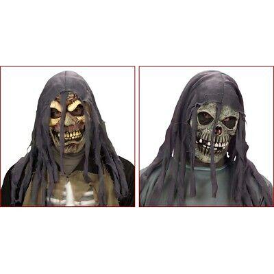 HALLOWEEN MASKE & KAPUZE Totenkopfmaske Sensenmann Zombie Mumien - Kopf Maske