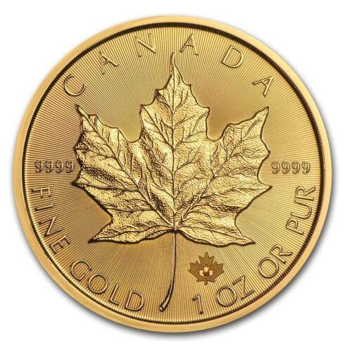 1 oz Canadian Gold Maple Leaf .9999 fine Gold Random Year 1 oz. RCM $50 Coin