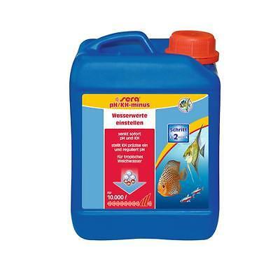 2,5 Liter sera pH/KH-minus für  Aquarium, senkt sofort pH und KH (Karbonathärte)