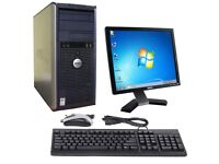 Dell Desktop Computer PC 745/755 - Intel Core 2 Duo with Monitor / Keyboard / Mouse
